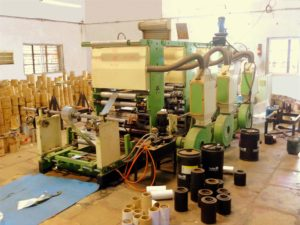 Image showing Two-Color Foil printing machine housed inside the Industrial Shed of Shree Krishna Enterprise