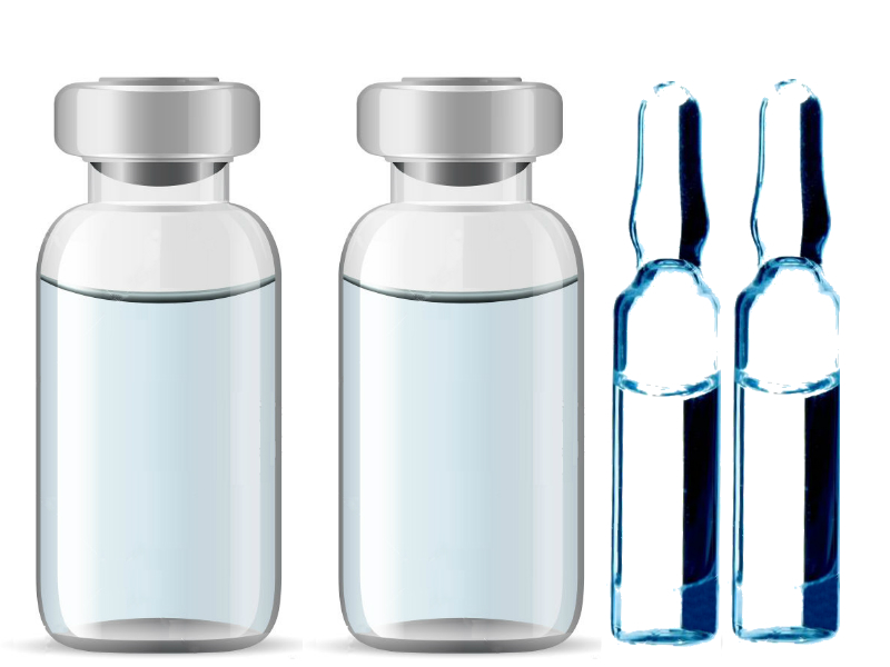 Image containing Glass Vials and Ampoules used for Pharmaceutical Packaging