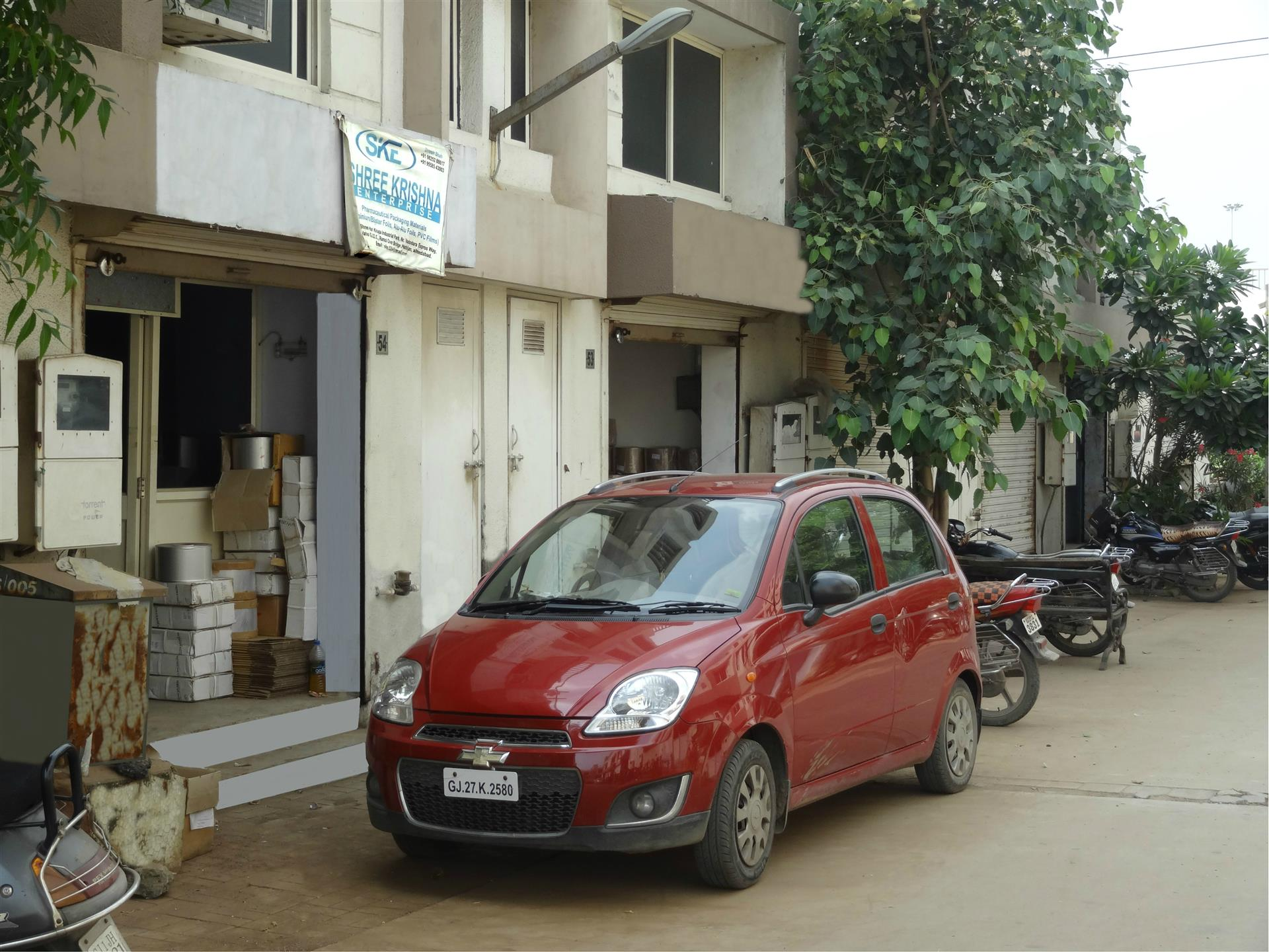 An image of the manufacturing shed of Shree Krishna Enterprise
