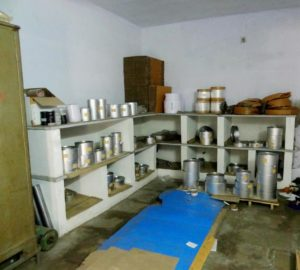 Image showing the Material Storage Section inside the Industrial Shed of Shree Krishna Enterprise
